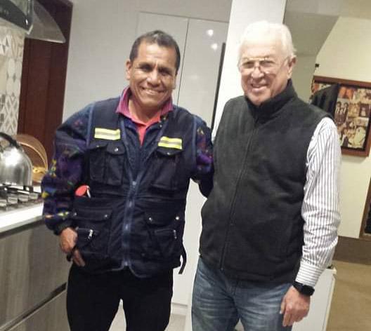 cerrajero Con el Maestro de ceremonias Locutor y actor peruano Rulito Pinasco 2020